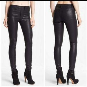 JOE'S Jeans Black Coated Cigarette Fit Ski…